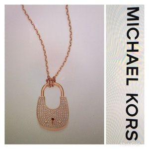 Brand New Michael Kors Heritage Padlock Necklace
